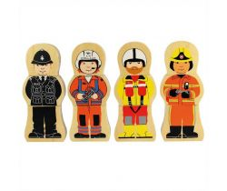 Dřevěné puzzle Bigjigs Toys Profese