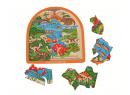 Dřevěné vícevrstvé puzzle Bigjigs Toys Dinosauři