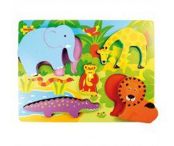 Dřevěné vkládací puzzle Bigjigs Toys Safari