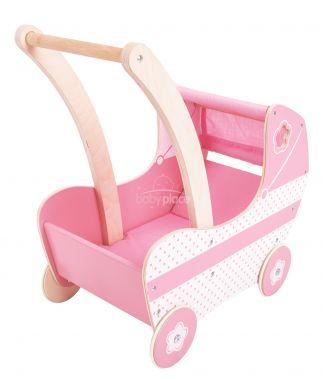 Dřevěný kočárek pro panenky Bigjigs Toys