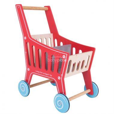 Dřevěný nákupní vozík Bigjigs Toys Supermarket