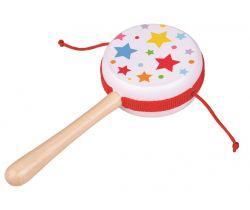 Dřevěný rotační bubínek 1 ks Bigjigs Toys Hvězdičky