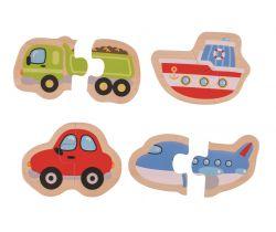 Easy puzzle Bigjigs Toys Dopravní prostředky