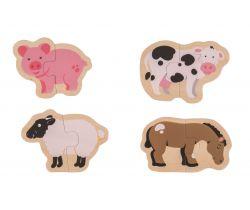 Easy puzzle Bigjigs Toys Zvířátka z farmy