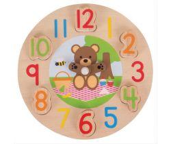 Edukativní hodiny Bigjigs Toys Medvídek