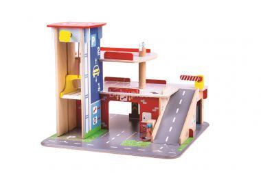 Garáž s parkovištěm Bigjigs Toys