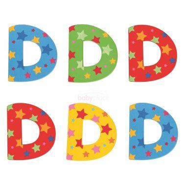Hvězdičkové písmenko Bigjigs Toys D