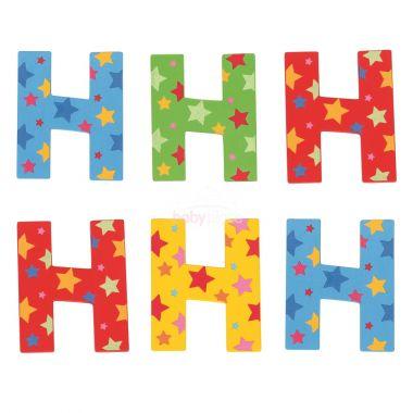 Hvězdičkové písmenko Bigjigs Toys H