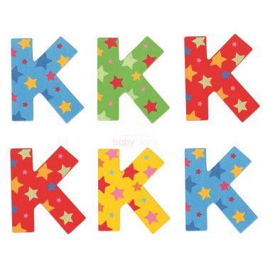 Hvězdičkové písmenko Bigjigs Toys K