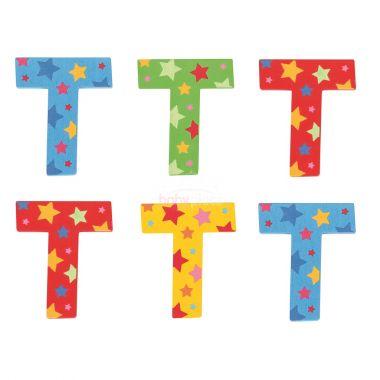 Hvězdičkové písmenko Bigjigs Toys T