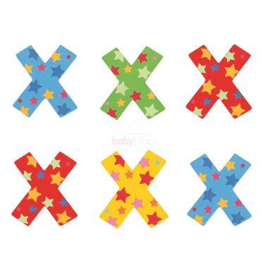 Hvězdičkové písmenko Bigjigs Toys X
