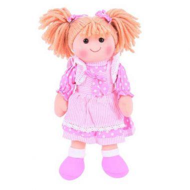 Látková panenka Bigjigs Toys Anna 34 cm