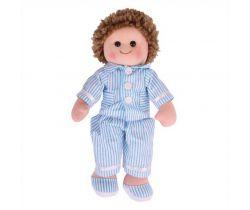 Látková panenka Bigjigs Toys Arthur 34 cm