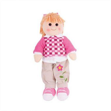 Látková panenka Bigjigs Toys Melanie 38 cm
