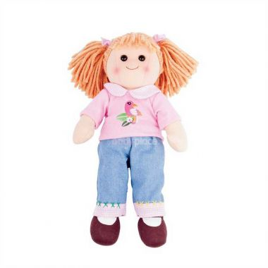 Látková panenka Bigjigs Toys Molly 38 cm