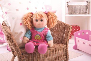 Látková panenka Bigjigs Toys Susie 38 cm