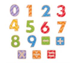 Magnetické barevné číslice Bigjigs Toys