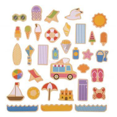 Magnetky Bigjigs Toys Prázdniny u moře