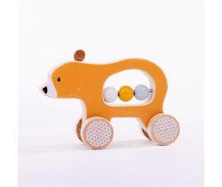 Medvídek na kolečkách Bigjigs Toys