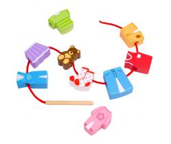 Navlékání korálků Bigjigs Toys Oblečení