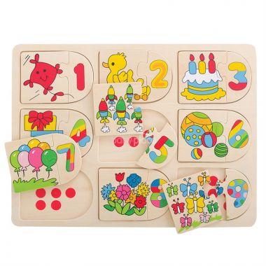Obrázkové počítací puzzle Bigjigs Toys