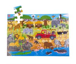Podlahové puzzle 48 dílků Bigjigs Toys Africké dobrodružné