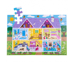 Podlahové puzzle Bigjigs Toys Domeček 48 dílků