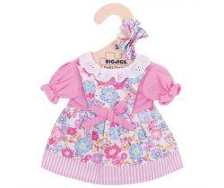 Květinové šaty pro panenku 28 cm Bigjigs Toys Růžové
