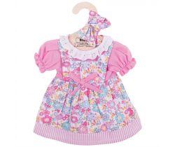 Květinové šaty pro panenku 38 cm Bigjigs Toys Růžové