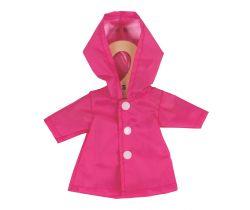Kabátek pro panenku 28 cm Bigjigs Toys Růžový
