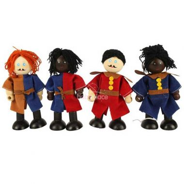 Set středověkých vojáků Bigjigs Toys 4ks