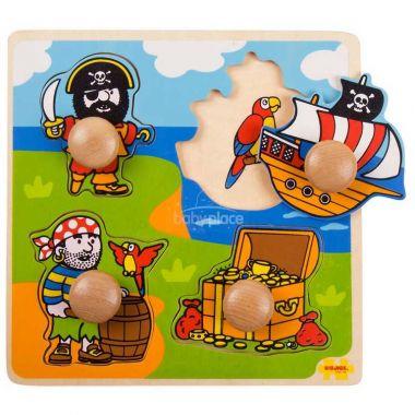 Vkládací puzzle Bigjigs Toys Piráti