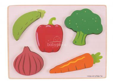 Vkládací puzzle Bigjigs Toys Zelenina