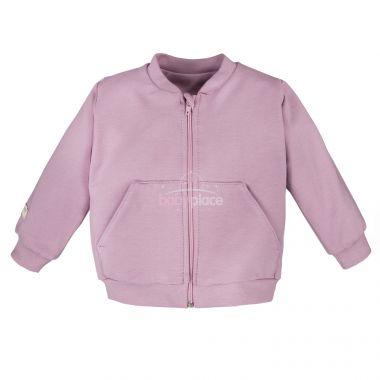Mikina na zip Eevi Simply Comfy Light Pink