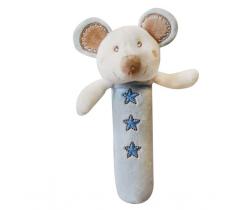 Bobas plyšové pískátko myška ZW 5A - modrá
