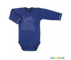 Body dlouhý rukáv Ewa Klucze Hello Dino World Blue