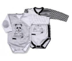Body dlouhý rukáv Lafel Panda White/Grey