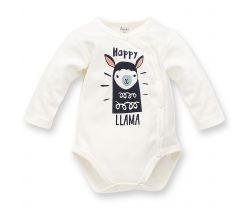 Body dlouhý rukáv Pinokio Happy Llama Creme