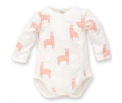 Body dlouhý rukáv Pinokio Happy Llama Creme Pink