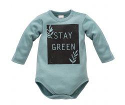 Body dlouhý rukáv Pinokio Stay Green Turquoise