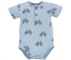 Body krátký rukáv Pinokio Summertine Blue Bike