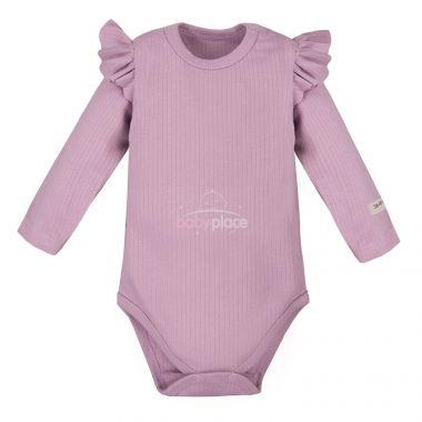 Body s volánkem dlouhý rukáv Eevi Simply Comfy Light Pink