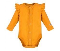 Body s volánkem dlouhý rukáv rozepínací Eevi Simply Comfy Honey