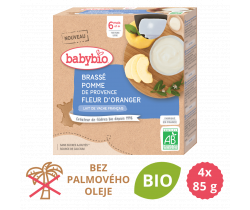 Brassé jablko a pomerančový květ 4x85 g Babybio