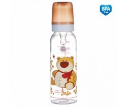 Canpol Animals láhev s potiskem 250 ml bez BPA