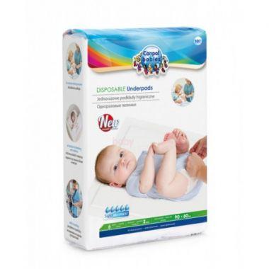 Canpol jednorázové hygienické přebalovací podložky 90 x 60 cm