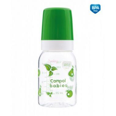 Canpol láhev s jednobarevným potiskem 120 ml bez BPA