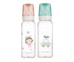 Canpol láhev skleněná s potiskem 240 ml Toys