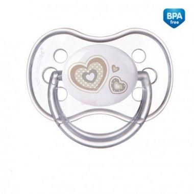 Canpol Newborn baby silikonové symetrické šidítko bílá
