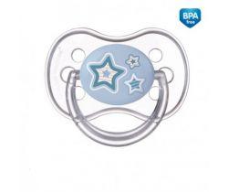 Canpol Newborn baby silikonové symetrické šidítko modrá